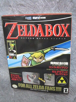 ZELDA BOX LEGEND OF Complete Art Set w/Poster Figure CD Guide Book