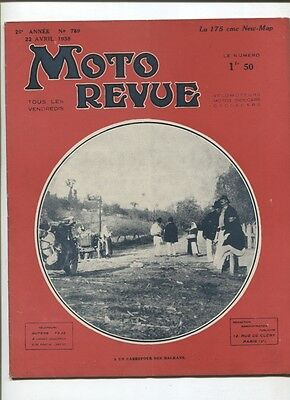 Moto Revue N°789 ; 22 avril  1938  : Sévitame / 175 New-Map
