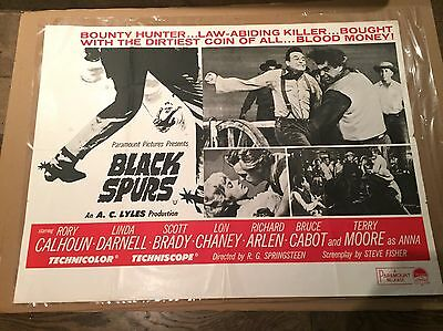 Black Spurs Original 1965 Original Vintage Quad Movie Poster
