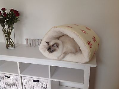 Luxury Snuggle Cave Pet Cat/dog Bed Hand Made New