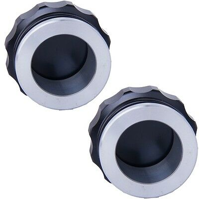 """2"""" Aluminium Alloy Weld On Filler Neck And Cap Oil, Fuel,Water Tank Black for 2"""