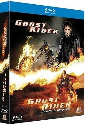Coffret 2 Blu Ray //  GHOST RIDER & GHOST RIDER 2  //  N. Cage / NEUF cellophané