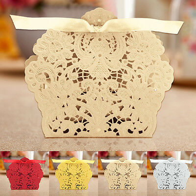 25/50/100PCS Candy Gift Boxes Party Sweet Cake Chocolate Wedding Candy Box