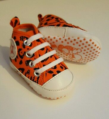 *brand New* Unisex Baby Animal Print Tiger Pumps Size 0.5