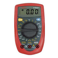 DURITE 0-798-00 Hand Held Multimeter with Temperature Probe