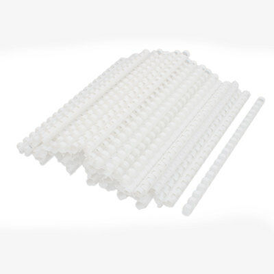 School Office Plastic Spines Binding Combs 12mm Dia 21 Rings 100 Pcs White