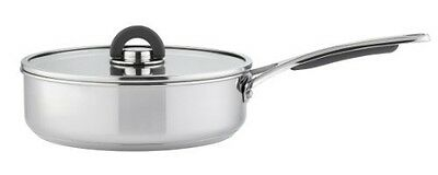 Meyer Select Innovation Stainless Steel 24 cm Covered Saute Pan - Silver