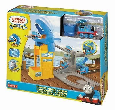 Fisher price Thomas & Friends Take-n-Play Shark Exhibit Playset Train Track