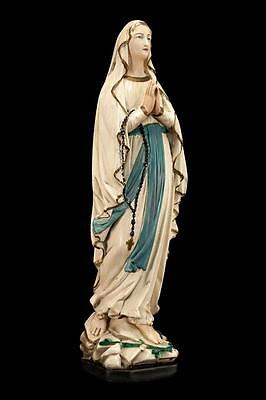 "Beautiful 20"" Large Vintage Plaster Statue of Virgin Mary Our Lady of Lourdes 2"