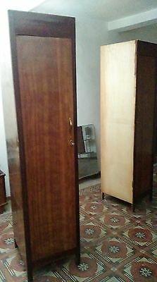 Antiques Pair of Pillar Wardrobes Mid 1900s Made in Italy ART DECO