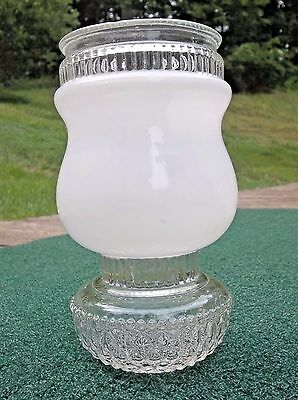 Vintage Glass Light Fixture Cover Mid Century Art Deco Ceiling Entry Stairs Rare
