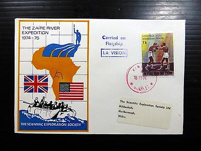 """ZAIRE 1974 River Expedition """" Carried on Flagship"""" Souvenir Cover NEW PRICFP8492"""