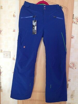 Mens Mountain Force Blue Ski Pants Trousers Size 52  W36 Large