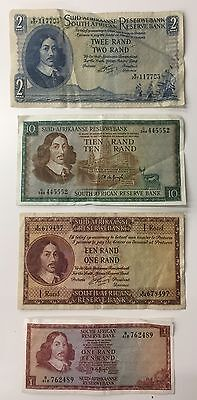 4 Mixed South Africa Banknote Collection - Rand -  (583)