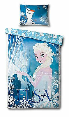 Official Disney Frozen Elsa Reversible Single Panel Duvet Cover Bedding Set
