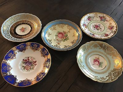 Vintage Paragon Tea Cup Saucer Lot DBL Warranted Orphan Saucers Only