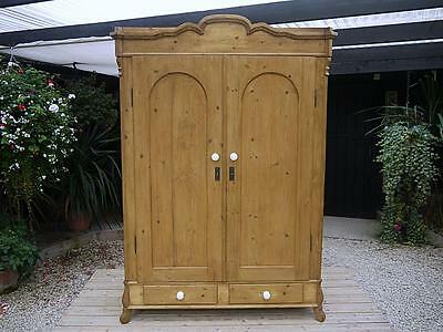 Wow! Large Beautiful Old Antique Victorian / Edwardian Knock Down Pine Wardrobe