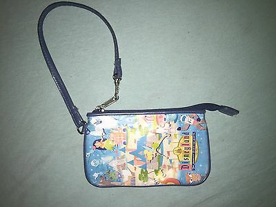 Disney Disneyland Resort Jeff Granito Blue Wristlet Change Purse