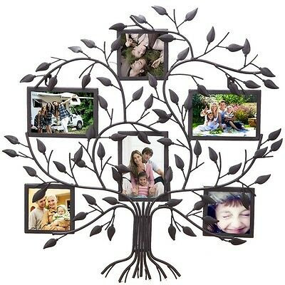 6 Opening Decorative Family Tree Wall Hanging Collage Picture Frame