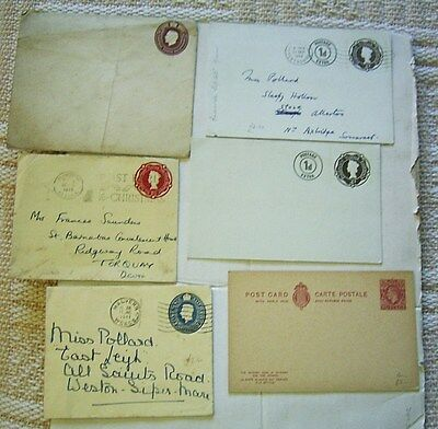GREAT BRITAIN POST PAID COVERS x 6