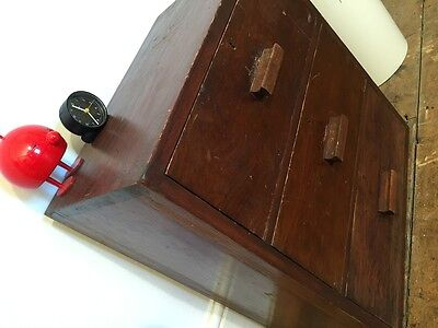 Solid Wood Vintage Engineers Drawers mid century industrial chest of drawers
