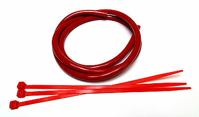 4mm I.D Red Silicone Boost Hose Pipe & Cable Ties Ideal for Boost Gauge / Bov