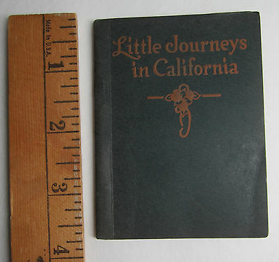 RARE Miniature Travel Book Journeys in California 1914 Rock Island IL Railroad