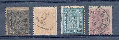Norway 1867 issues
