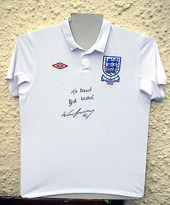 England - Wayne Rooney - England/slovakia 2009 Signed Shirt - Genuine Signature