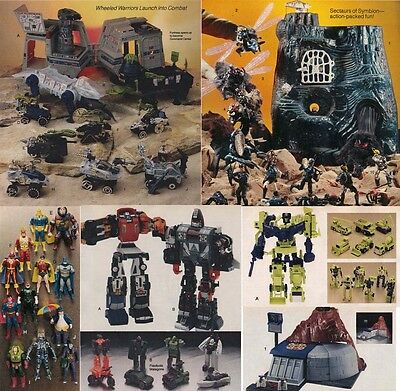 8 Catalog Ad Pages - 1980's Transformers/go Bots/m.a.s.k./wheeled Warriors++
