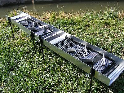 SUPER-V-Ripples - Sluice - High Banker & Dredge Extensions with adjustable legs