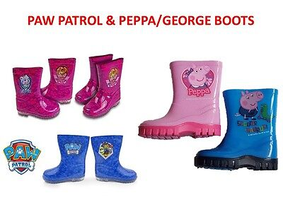 "Boys Girls Wellington Boots ""Peppa Pig"" ""George Pig"" ""Paw Patrol"" Wellies/Wellie"