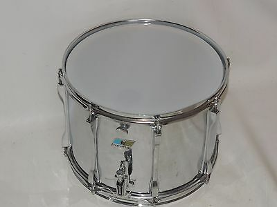 Vintage Ludwig 10 x 14 Metal Shell Snare Drum Blue Olive # 798022