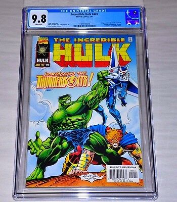 Incredible Hulk 449 CGC 9.8 White Pages 1st Thunderbolts