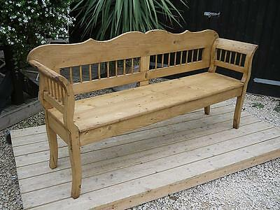 Stunning! Old Antique Victorian/edwardian Pine Hungarian/monks Bench/settle/pew