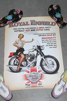 New Royal Enfield Motorcycle Poster Retro