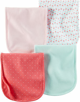 Carters Baby Girls Hello Cutie 4-pk. Burp Cloths One Size Coral multi