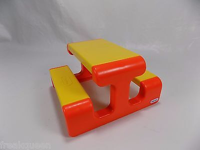 Vintage Little Tikes Playground Picnic Table for Dollhouse Toy Bench
