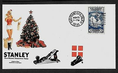 1935 Stanley Bailey Planes Featured on Xmas Collector's Envelope *X300