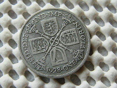 George V. silver Florin - Two Shillings 1928.