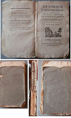 Benjamin Franklin The Way To Wealth Antique French Version 1778