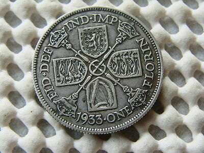 George V. silver Florin - Two Shillings 1933.