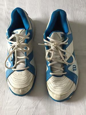 Wilson Tour Ceptor blue & white Tennis shoe / trainer Unisex MENS size uk 9