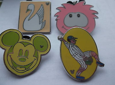 4 Disney Pin  Badge's All Different Lot 20