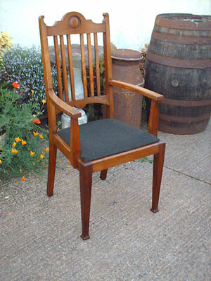 Antique Mahogany Open Armchair