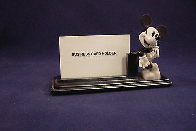 Disney Mickey Mouse Character Resin Business Card Holder In Graytone Finish