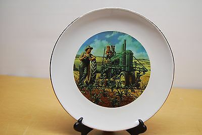 "JOHN DEERE 10"" Collector Plate ""Lunch Time"" WH Hinton New"