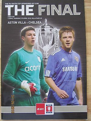 F A YOUTH CUP FINAL 2010     -   ASTON VILLA  v  CHELSEA