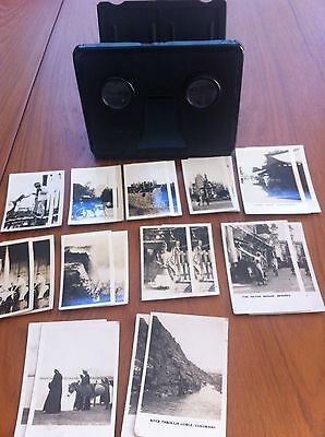 Vintage Camerascope 3d Card Viewer With 37 Sets Of Cards