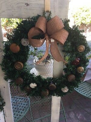 Nastalgic Christmas Wreaths With Antique Door Knobs